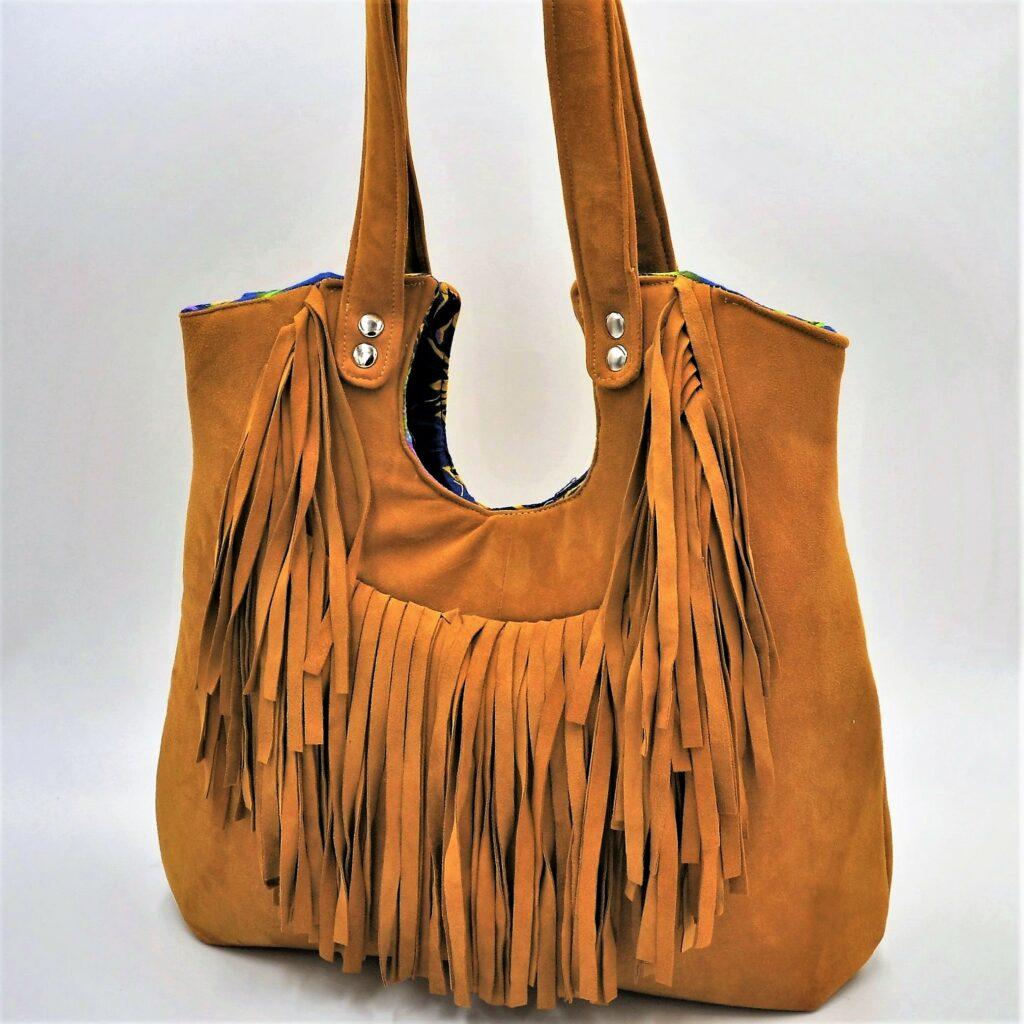 Mustard Fringe Bag